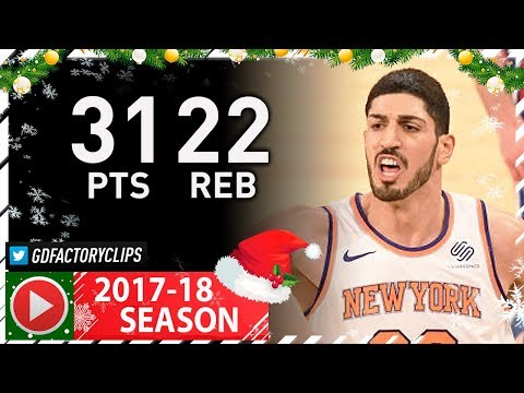 Enes Kanter Full XMAS Highlights vs Sixers (2017.12.25) - 31 Pts, 22 Reb