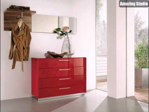 Flurmöbel erstaunliches interior design ideen flurmöbel in rot