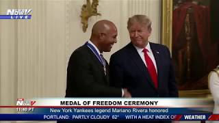 YANKEES LEGEND: President Trump Honors Mariano Rivera Medal Of Freedom Ceremomy