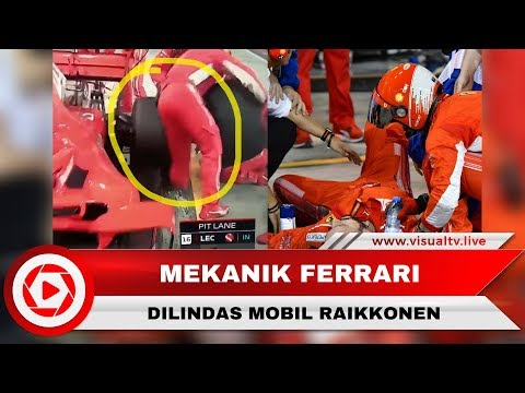GP F1 Bahrain, Mekanik Ferrari Terlindas Mobil Raikkonen