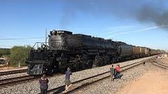 Union Pacific Big Boy #4014 Makes Emergency Stop Leaving Casa Grande, AZ (10/17/19)