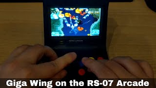Giga Wing on the RS-07 Retro Arcade emulation and gaming device