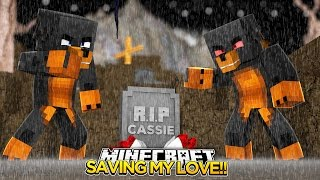 Minecraft SAVING CASSIE THE CAT FROM EVIL DONUT!! Minecraft - Donut the Dog