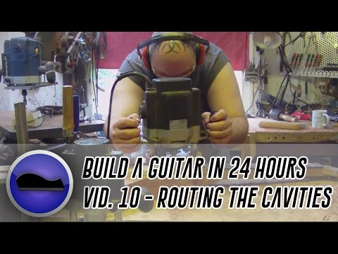 Video 10 - How to build a guitar | I make a pickup routing template ...