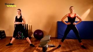 Оптимальный комплекс упражнений на мышцы ног и пресса!