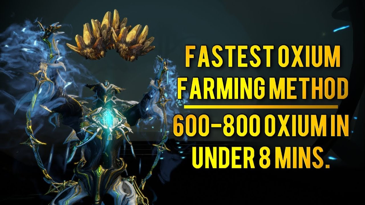 Best Oxium Farm 2020 Warframe: FASTEST OXIUM FARM RIGHT NOW [2018]   YouTube