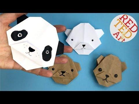 Easy Origami Bear   Panda Bear DIY    Paper Polar Bear DIY