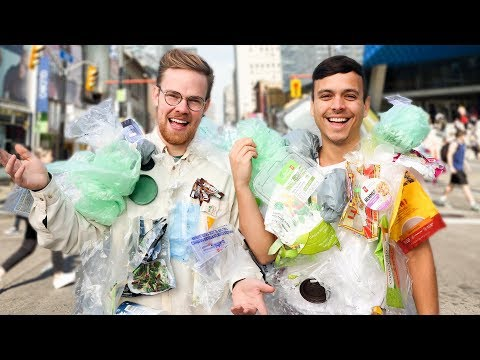 We Wore our Plastic Waste IN PUBLIC for 7 Days  It Changed Our Lives