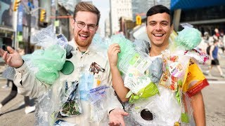 We Wore our Plastic Waste IN PUBLIC for 7 Days - It Changed Our Lives