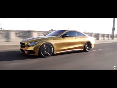Mercedes Benz S550 - Full Wrapped By Impressive Wrap in Custom Gold Chrome