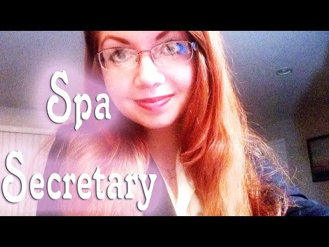 ✯ASMR SALON/SPA SECRETARY ROLEPLAY ☞ Typing, Page Flipping, Personal Attention
