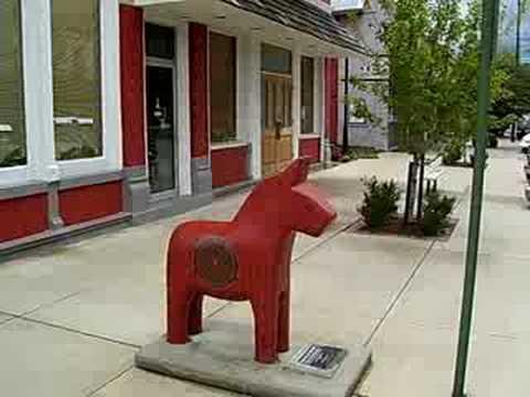 Lindsborg Kansas KS downtown block