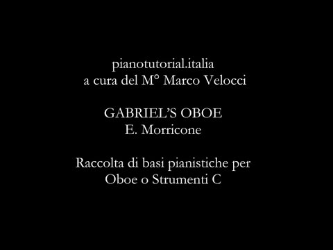 GABRIEL'S OBOE - E. Morricone - Backing track - piano bases collection