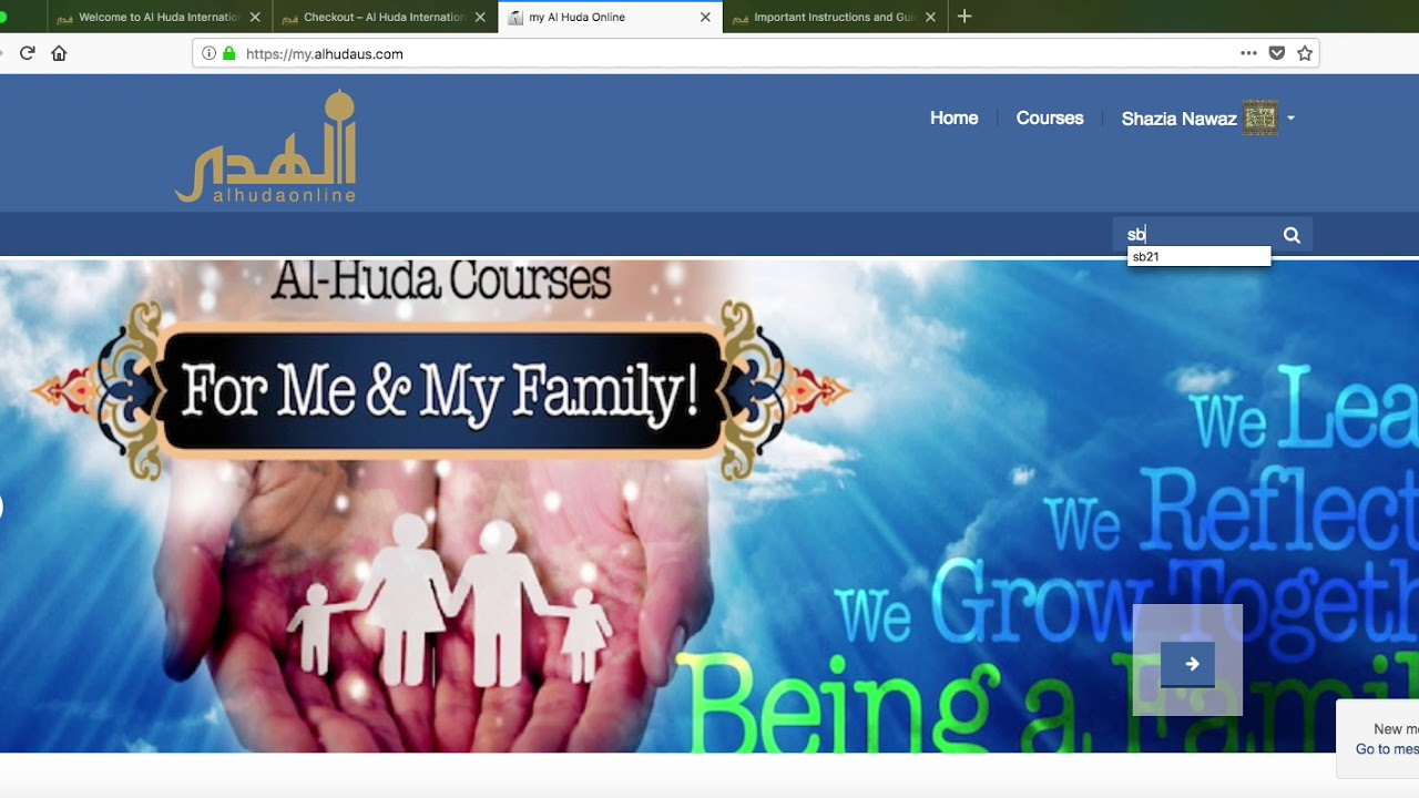 AlHuda Online New Students How to Join New Course