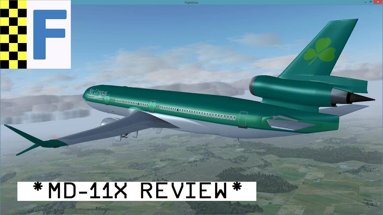 FlightGear] MD-11X Review – Great Aircraft! (Fixed Version