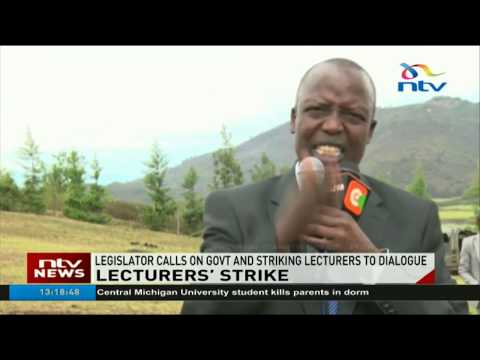 Legislator calls on government and striking lecturers to dialogue