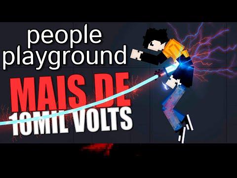 Mais de 10mil Volts no People Playground (Boneworks 2d)