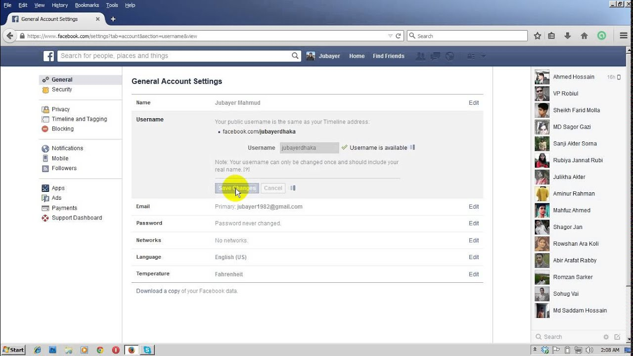how to get link to facebook profile