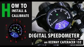 HOW TO Install a DIGITAL SPEEDOMETER on EURO KEEWAY CAFERACER 152 with ENGLISH SUB screenshot 3