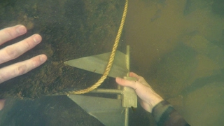 freediving in murky water for river treasure anchor fishing tackle zipline and more