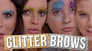 How To Get Glitter Eyebrows FAIL (Beauty Break)