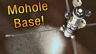 KSP: Building a base inside the Mohole!