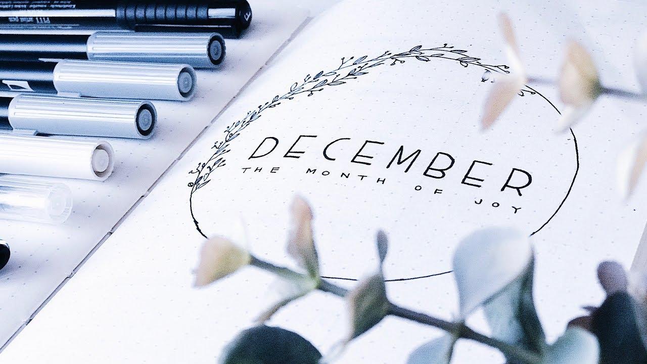 Minimalist Bullet Journal - December 2017 (Christmas / wreath theme)