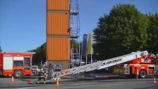 Portes ouvertes Pompiers Denain 2012 - manœuvre incendie