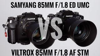 Fuji X Showdown - Samyang 85mm 1.8 vs Viltrox 85mm 1.8 AF