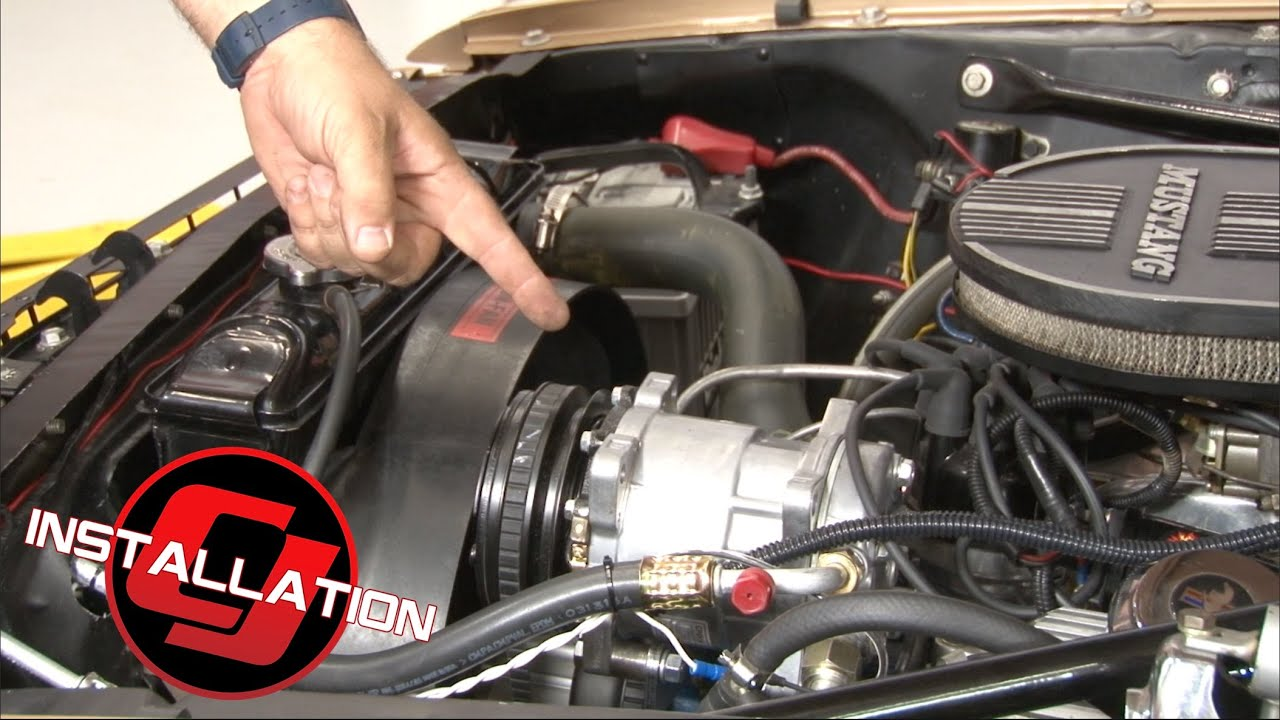 Mustang Classic Auto Air Perfect Fit Elite Air Conditioning System With Compressor Installation