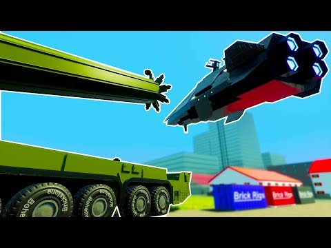 LEGO JUGGERNAUT MISSILE SHOOTS DOWN ALIEN BATTLESHIP! - Brick Rigs Workshop Creations Gameplay