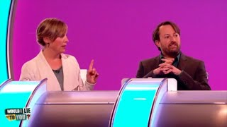 Which WILTY panel member did Mel Giedroyc have a snog with? - Would I Lie to You? [CC]