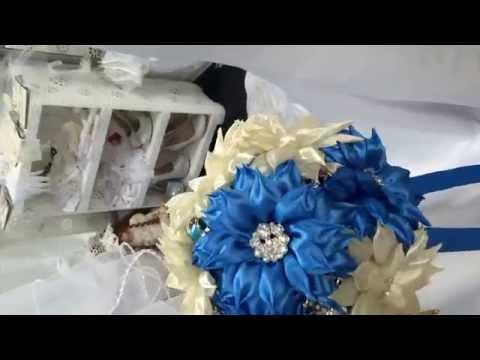 BROOCH BOUQUET / БРОШЬ БУКЕТЫ, Букеты из лент, Букеты из ткани , букет невесты из синих цветов