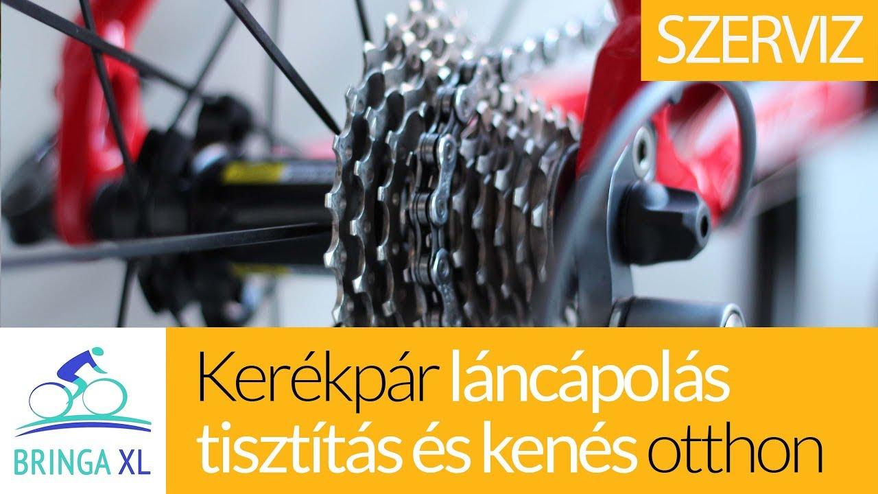 Kerékpár lánc felrakása