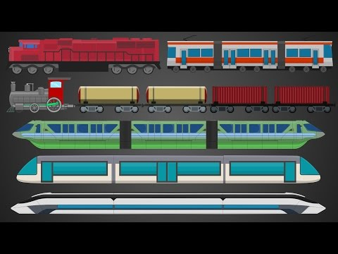 Trains | Street Vehicles | Learn Transport | Locomotives