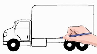 How to Draw a Delivery Truck Easy Step by Step