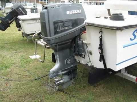 1989 sea lion 1700cc with a 1989 suzuki 115hp youtube for 85 hp suzuki outboard motor for sale
