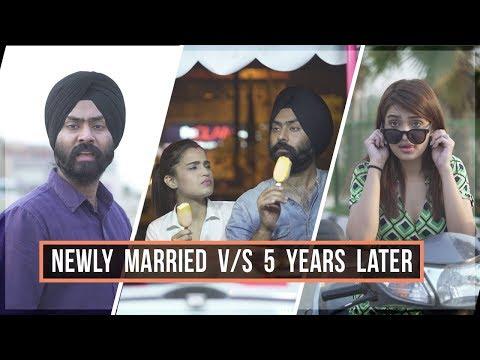 Newly Married v/s 5 Years Later | Harshdeep Ahuja feat. Aarushi Sharma
