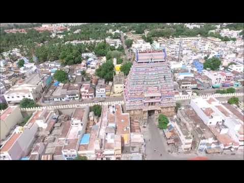 An aerial view of Srirangam