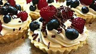 Ягодные ТАРТАЛЕТКИ с кремом ✪ ПРОСТЫЕ РЕЦЕПТЫ - корзиночки из песочного теста ✪ Fruit TARTLET Recipe
