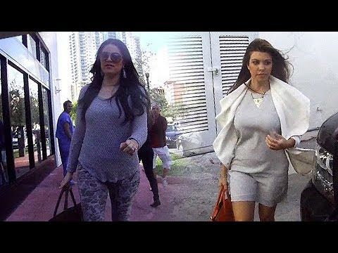 Kourtney And Khloe Kardashian Get Lunch And Hit Their Miami Dash Shop  [2012]