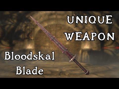 Skyrim: Dragonborn - Unique Weapon: Bloodskal Blade (Side Quest: The Final Descent) |