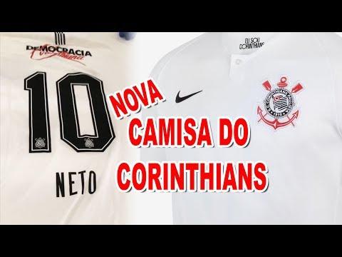 Recebi a nova camisa do Corinthians pela Nike