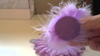 How to make a Feather Flower Hair Bow