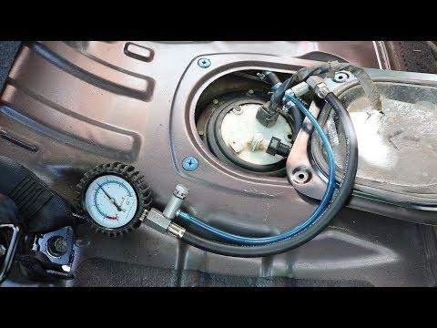 Hyundai Elantra J4 HD . Замер ДАВЛЕНИЯ ТОПЛИВА