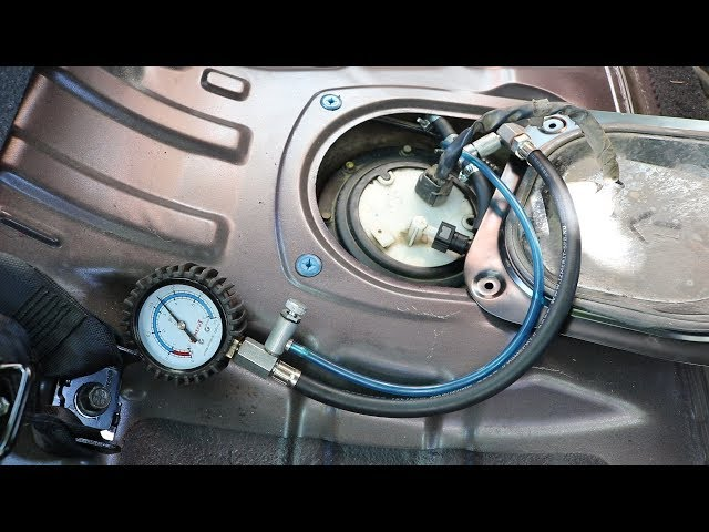 Hyundai Elantra J4 (HD). Замер ДАВЛЕНИЯ ТОПЛИВА
