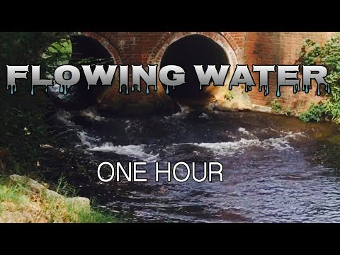 RELAX 1 HOUR   RELAXING FLOWING STREAM NATURE SOUNDS   SLEEP, MEDITATE, STUDY, WATER SOUNDS