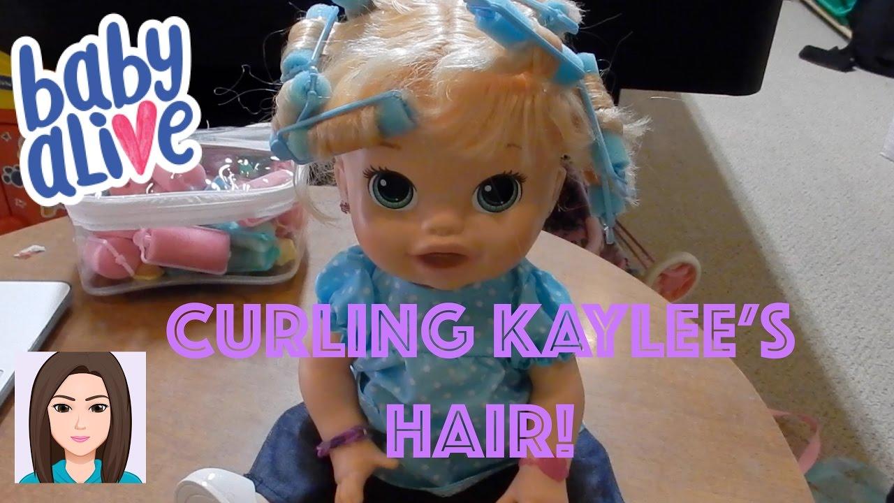 curling baby alive kaylee's hair