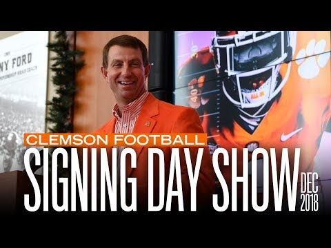 Clemson Football ||  National Signing Day Show [Dec. 2018]