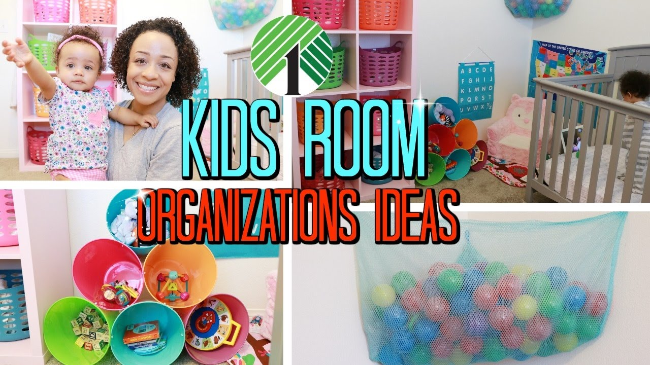 $1 Dollar Tree Kids Room Organization Ideas!